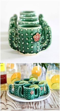 I LOVE these unique cactus shot glasses! Perfect for summer or Cinco de Mayo. So cute and funny! Great handmade gift idea!