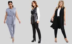 Soft Vest with slim pants Asos Curve, Elena Miro, Asos Curve Apple Body Type, Apple Body Shapes, Apple Shape Outfits, Dress For You, Dresses For Work, Slim Pants, Fashion Tips For Women, Asos Curve, Wardrobes