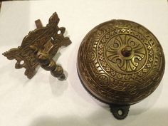 Antique Doorbell Large 4 5 8\  5 1 4\  Hole to Hole Patented 1874 & Doorbell+Chime+Cover+Only | Decorative Doorbell Cover Plates ...