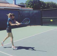 Maria's Twitter: Hello...backhands!! After two months of wrist rehab. #LittleRewards