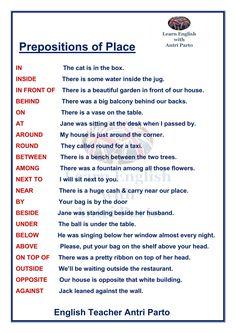 Prepositions of Place #LeranEnglish @AntriParto