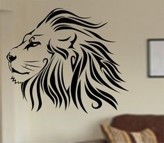 Lion version 101 Vinyl Wall Decal Sticker Art Decor Bedroom Design Mural