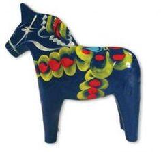Blue Dala Horse,swedish folk