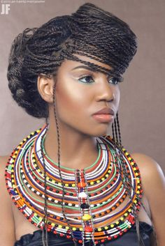 wanna give your hair a new look ? African braided hairstyles is a good choice for you. Here you will find some super sexy African braided hairstyles, Find the best one for you, African Beauty, African Women, African Fashion, African Style, African Makeup, Ankara Fashion, African Accessories, African Jewelry, African Necklace