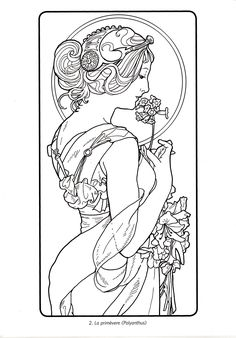 Super Tattoo Back Color Art Nouveau Ideas Motifs Art Nouveau, Art Nouveau Mucha, Alphonse Mucha Art, Motif Art Deco, Art Nouveau Design, Tatuagem Art Nouveau, Art Nouveau Tattoo, Jugendstil Design, Art Nouveau Illustration