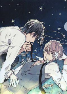 Takarai Rihito Mangaka Ten Count Series Black Eyes Night Stars (Sky) White Gloves White Handwear