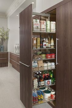 27 Best Kitchen Storage Ideas for Small Spaces Layout Contemporary Kitchen Ideas Kitchen layout small Spaces Storage Kitchen Pantry Storage, Cozy Kitchen, Kitchen Organization, Kitchen And Bath, New Kitchen, Kitchen Decor, Organization Ideas, Storage Cabinets, Kitchen Layout