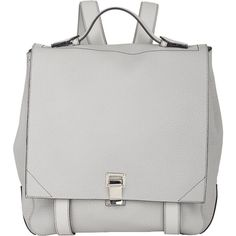 Proenza Schouler PS Courier Backpack (£1,320) ❤ liked on Polyvore featuring bags, backpacks, accessories, white, strap backpack, backpacks bags, proenza schouler, flat backpack and flat bags