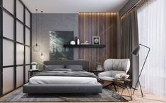 How to make a bedroom cozy tips from the design? Master Bedroom Interior, Bedroom Bed Design, Modern Master Bedroom, Modern Bedroom Design, Contemporary Bedroom, Home Interior Design, Bedroom Decor, Modern Luxury Bedroom, Saloon