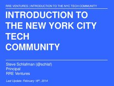This all encompassing guide to NYC tech will reveal just how large and diverse NYC tech community has become and why it's has become a true digital leader and … Startups, How To Become, Nyc, Technology, York, Education, Community, Life, Investors