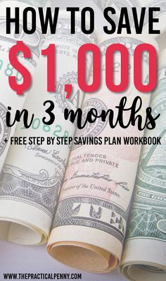 How to Save $1,000 in 3 months | The Practical Penny | When Life throws some unexpected costs in your way. Wouldn't it be nice to have extra cash in an emergency fund. Learn how to Save $1,000 in 3 months. #Money #saving #goals #finance