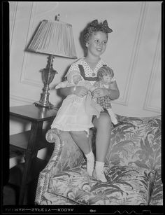 Shirley Temple in her suite at the Ritz Carlton