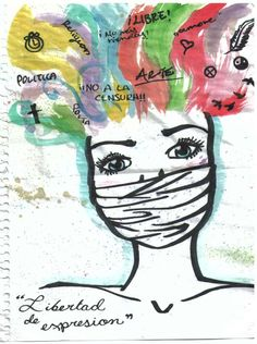 Dibujo de Nicole sobre Derechos Humanos Art Psychology, Human Rights, Art Drawings, Moose Art, Japan, Lettering, Cool Stuff, Illustration, Poster