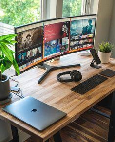 Gaming Setup, Desk Setup, Room Setup, Gaming Desk, Design Studio Office, Recording Studio Design, Workspace Design, Office Organization At Work, Home Office Setup