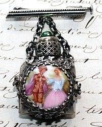 vintage perfume brooch