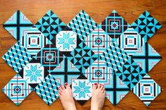 Créer un tapis en perles à repasser Hama façon carreaux de ciment / DIY Déco - Après la flemme blog