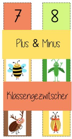 Kindergarten Math Activities, Fun Activities To Do, Fun Math, Math Games, Everything Preschool, Science Projects For Kids, Plus And Minus, Writing Resources, First Grade Math