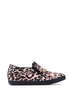 Report Cosanna Chain Embellished Calf Hair Sneaker in Leopard