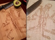 Practice Killing Zombies While Making Dinner With These Cutting Boards Read more at http://www.thatsnerdalicious.com/accessories/practice-killing-zombies-while-making-dinner-with-these-cutting-boards/#7eTXFws7hmlDvKpL.99 #Zombie