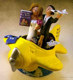 cake toppers | Airplane Pilot's Wedding Cake Topper