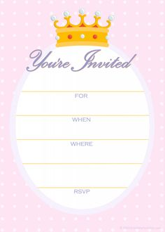 24 best birthday invitation card sample images on pinterest princess birthday party invitations template filmwisefo