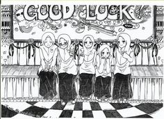 beautiful art for my beloved friendssss.. thanks for being my best friends guys!!!