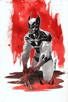 Wolverine by Dustin Nguyen Comics Love, Image Comics, Marvel Comics, Marvel Wolverine, Dustin Nguyen, Marvel Comic Character, Superhero Movies, Creative Posters, Art For Art Sake