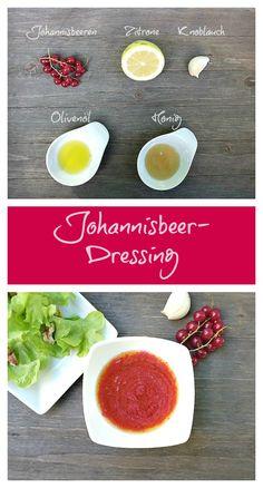 Die Farbe dieses Johannisbeer-Dressings mit Knoblauch ist der Hit und geschmacklich kann dieses fruchtige Dressing auf ganzer Linie überzeugen. Passt perfekt zu Blattsalaten.