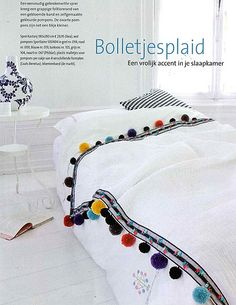 Love this trim on the white quilt!! pompom bedspread style files by Sterin, via Flickr