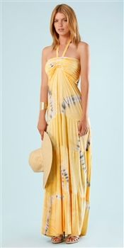 Hale Bob  Cabana Beach Bunny Tie Dye Long Maxi Dress
