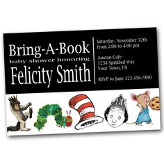 Bring-A-Book Baby Shower Invitation