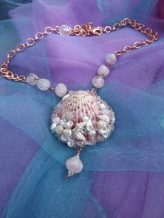 Sea+Shell+Necklace+Titled+THE+SEEKER+of+BEAUTY+by+thejeweledmink,+$27.00