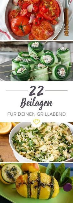 22 Grillbeilagen Rezepte - oder für das Vegetarische Grillen - deutsch *** 22 BBQ Sidedish Recipes (German)