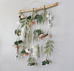Your place to buy and sell all things handmade- Boho Wall Hanging Flower Wall Hanging Dorm Room Decor Boho Hanging Plant Wall, Hanging Flower Wall, Boho Wall Hanging, Flower Wall Decor, Flower Room, Boho Decor Diy, Diy Home Decor, Corona Floral, Baby Girl Nursery Decor