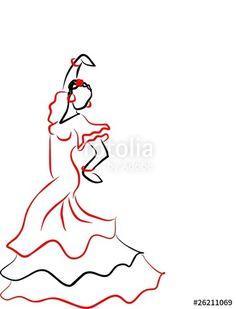 sevilles dancer I Pin Up Drawings, Easy Drawings, Inspirational Artwork, Dress Drawing Easy, Spanish Tattoos, Bob Ross Art, Dancer Drawing, Easy Mosaic, Mosaic Tile Art