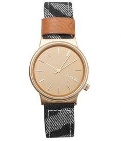 Komono - Wizard Print Watch (Denim Zebra) - $75