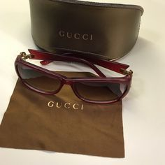 Authentic Gucci sunglasses Never used or worn Gucci sunglasses.  No scratches or cracks.  Authenticity serial number photographed.  No trades, serious offers only. Gucci Accessories Sunglasses