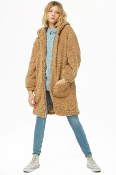 Forever 21 is the authority on fashion & the go-to retailer for the latest trends, must-have styles & the hottest deals. Faux Shearling Jacket, Fur Jacket, Fur Coat, Hoods, Forever 21, Heart, Sweaters, Jackets, Clothes