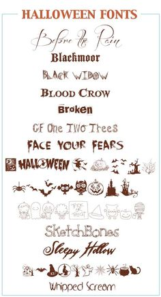 DL-FREE Halloween Fonts for Crafts and Projects - Five Spot Green Living - Healthy Recipes and Essential Oils Fancy Fonts, Cool Fonts, Creative Fonts, Creative Cards, Typography Fonts, Hand Lettering, Lettering Tutorial, Calligraphy Fonts, Halloween Fonts