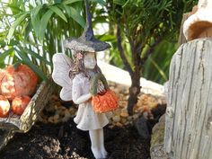 Fairy Kristy loves to Trick or Treat!  www.wholesalefairygardens.com