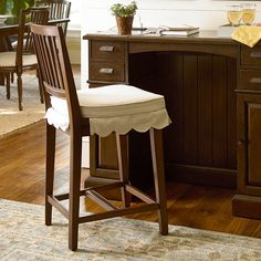 """River House 24"""" Bar Stool with Cushion (Set of 2)"""