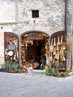 Cute shop in Assisi Italy...famous for St Francis