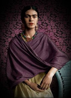 Frida Kahlo by Imogen Cunningham (colorized)