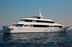 Yacht designer, Marco Casali reinterprets the Benetti ships of the with the Amarcord Benetti Yachts, Luxury Yachts, Submarines, Motor Boats, Badass, Nautical, Ships, Magazine, Design
