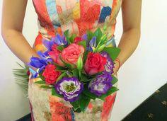 bouquet and dress match Bouquets, Dresses, Vestidos, Bouquet, Bouquet Of Flowers, Dress, Gown, Outfits, Dressy Outfits