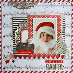 Santa's list teresa collins layouts using - Google Search