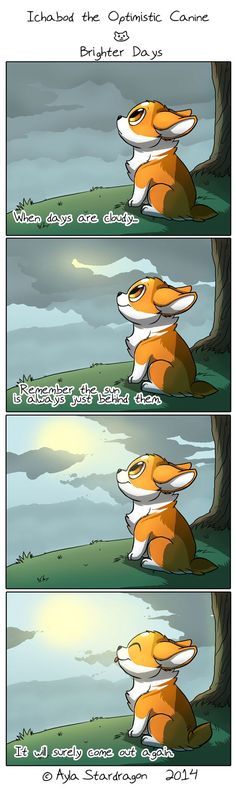 Ichabod the Optimistic Canine :: A Brighter Day | Tapastic Comics - image 1