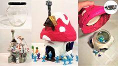 Jak zrobić domek dla smerfów ze słoika - Pomysły plastyczne dla każdego