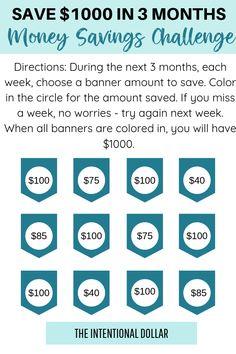 Easily Start Saving Money With This Money Savings Challenge – Finance tips, saving money, budgeting planner Savings Challenge, Money Saving Challenge, Savings Plan, Money Saving Tips, Saving Money Jars, Money Tips, Saving Ideas, Dave Ramsey, Money Plan