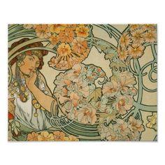 Alphonse Mucha Art Nouveau Posters